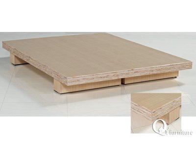 雙人床架 架高床底高床台加高床底木屐床底 白橡色5雙人床底。/現代/簡約【奇一家具 】E100-1205南部免運費