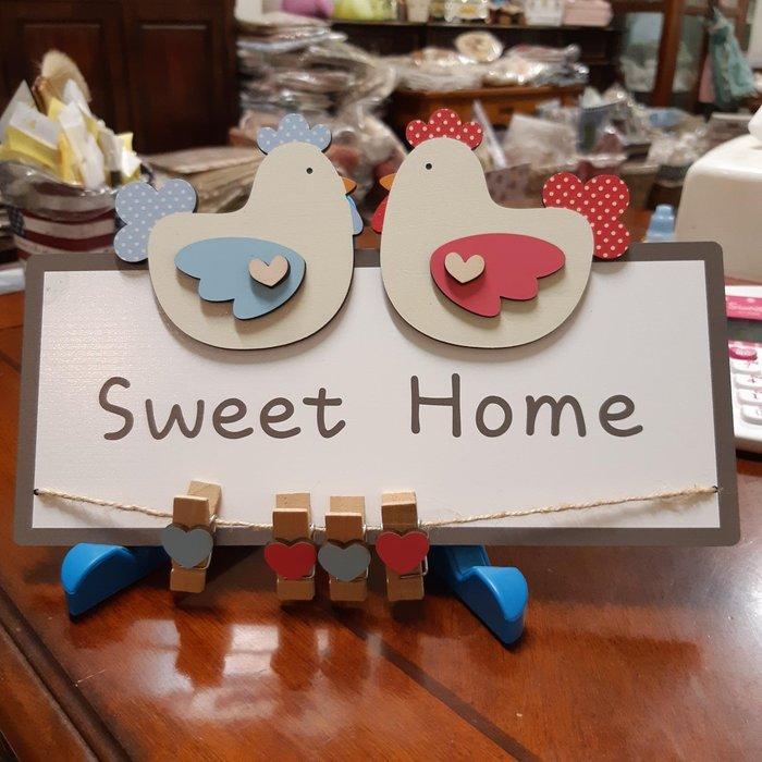 美生活館 Sweet Home 愛心 公雞 造型 便條紙 夾