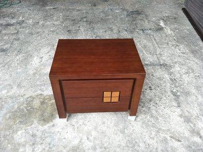 【安鑫】胡桃木色雙抽床頭櫃 床邊櫃 電話櫃 置物櫃 收納櫃【A375】 新北市