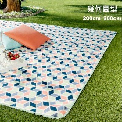 野餐墊韓風華麗高級加厚款picnic 遊戲墊 地墊 野餐 露營地布200*200《啊噗啾》