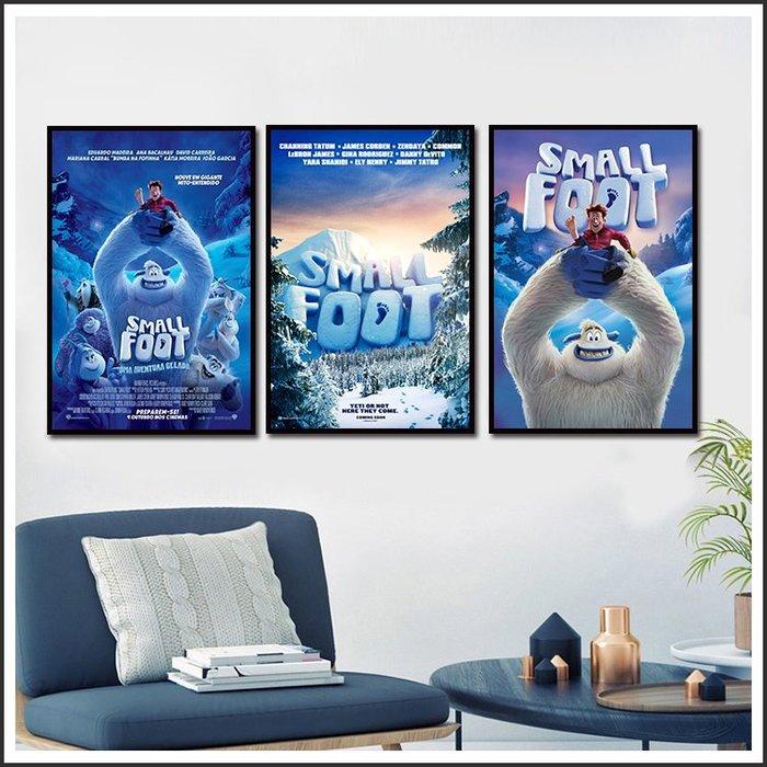 日本製畫布 電影海報 小腳怪 Smallfoot 掛畫 嵌框畫 @Movie PoP 賣場多款海報~