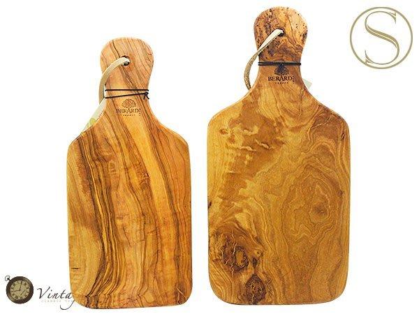 Vintage ~復古家~雜貨 ~法國BERARD 橄欖木手把麵包板切菜板 S