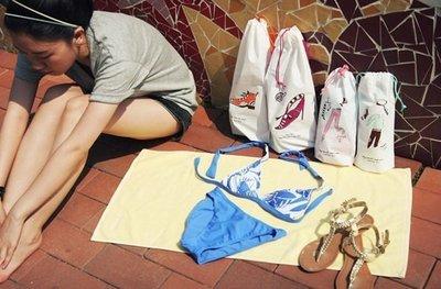 ☆家家的店☆【韓國Air Mail Pack】旅行收納束口袋3000防水防潮鞋袋【22*40公分】【鞋袋下標區】
