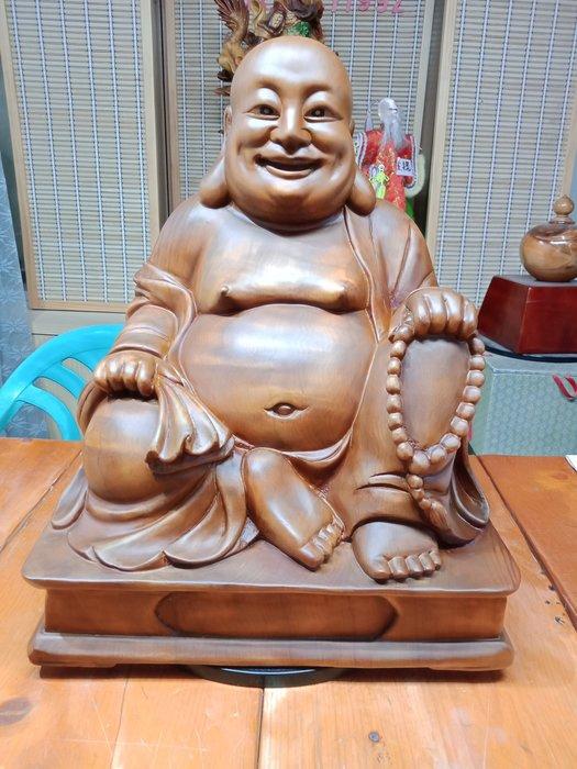 1呎6 坐姿彌勒佛財神爺 台灣牛樟木雕刻