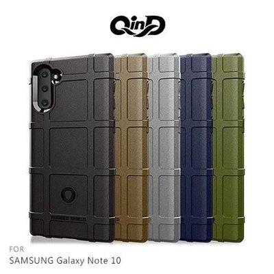 【愛瘋潮】QinD SAMSUNG Galaxy Note 10 戰術護盾保護套 背蓋 TPU套 手機殼 保護殼 鏡頭保