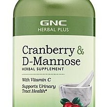 【2022/12現貨】GNC Cranberry & D-Mannose 蔓越莓+甘露糖 60顆