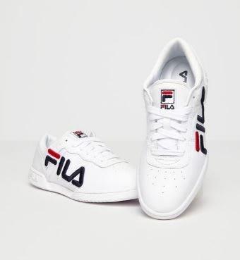 安安精品~保證正品!FILA3D刺繡的超大徽白色皮革鞋面5FM00060