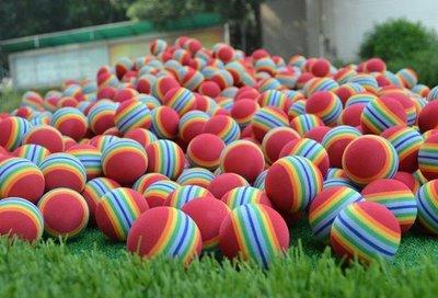 ☜男神閣☞海綿球EVA軟球室內高爾夫練習球10只