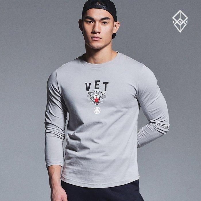 【OTOKO Men's Boutique】固制:有種部隊休閒運動印花長T/灰色