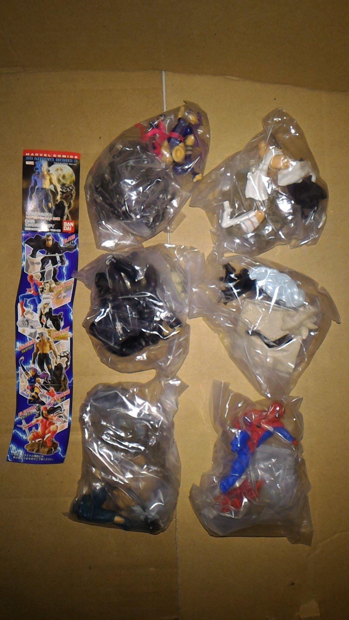 絕版 BANDAI HG MARVEL HEROS 美國英雄3 蜘蛛人 金鋼狼 風暴女 刀鋒戰士 幻影殺手-白衣 全6款