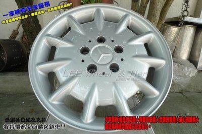 桃園 小李輪胎 16吋5孔112 BENZ 7.5J ET41 原廠 中古鋁圈 AUDI VW Skoda*2