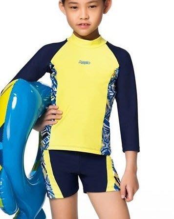 ~有氧小舖~APPLE蘋果牌泳衣 中童長袖泳裝 小朋友水母衣長袖 防曬
