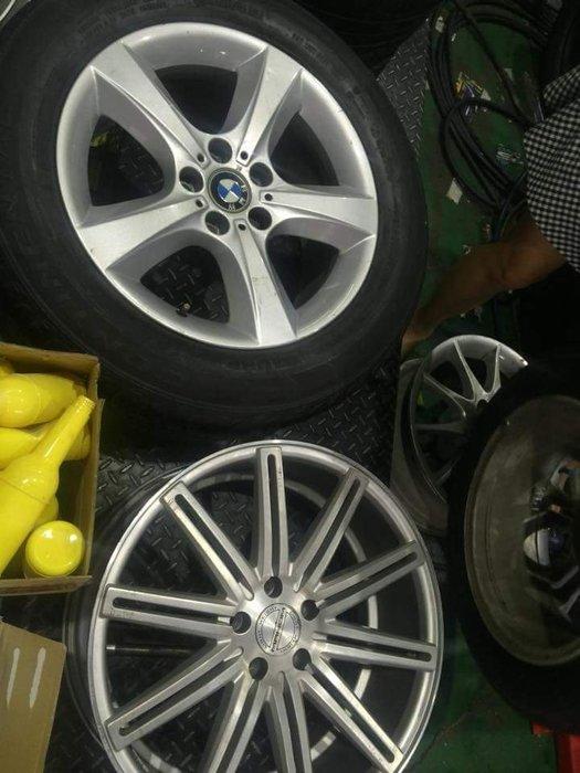 保證正品  BMW 18吋鋁圈  5孔120 德國原裝進口  新車卸下  一顆5000元 總共有5顆