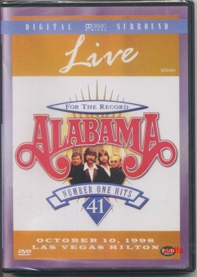 正版全新DVD~阿拉巴馬合唱團演唱會Alabama For The Record : 41 Number One Hit