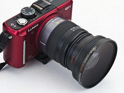 呈現攝影-ROWA 外接式廣角鏡 52mm 0.45x 外口徑67mm 近攝鏡 Macro14-42mm Gx1