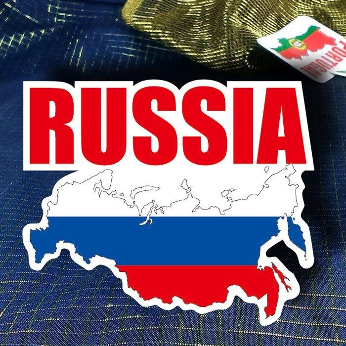 【國旗貼紙專賣店】俄國旗地圖抗UV、防水行李箱貼紙/Russia/俄羅斯/多國款可訂製