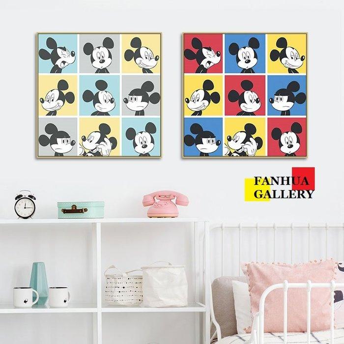 C - R - A - Z - Y - T - O - W - N Mickey mouse米奇波普掛畫迪士尼裝飾畫經典卡通人物米老鼠版畫美式彩色兒童房間裝飾畫