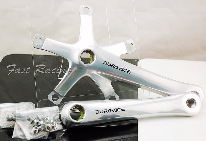 ☆【跑的快】☆  Shimano  7710  Dura-ace  曲柄組 單速車 場地車 鋼管 FIXED GEAR