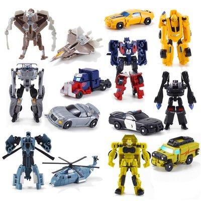 積木城堡 迷你廚房 早教益智變形玩具金剛迷你大黃蜂小汽車機器人全套模型套裝男孩蒙巴迪手動