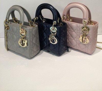 【連線】Dior Lady Dior mini bag  17CM 配揹帶 歐洲代購 連線中