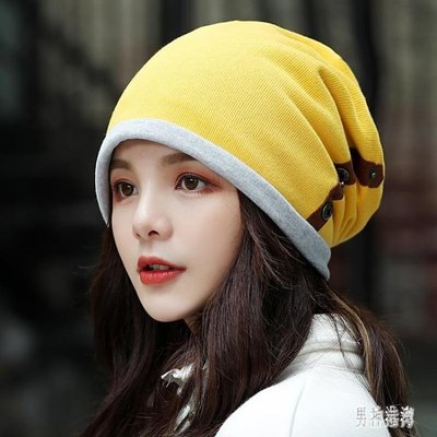 包頭雙層月子帽 女時尚套頭帽帽秋冬堆堆帽戶外運動騎車帽 BF20224