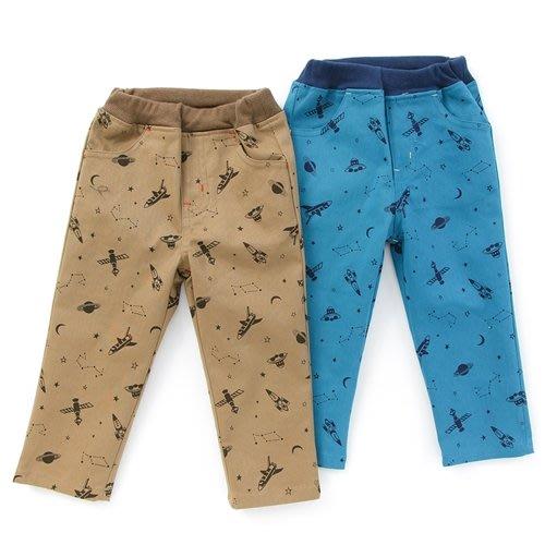 日本童裝  La Chiave 小童 外太空 星球 火箭  長褲 彈性 藍色#90#95 日本空運~小太陽日本精品