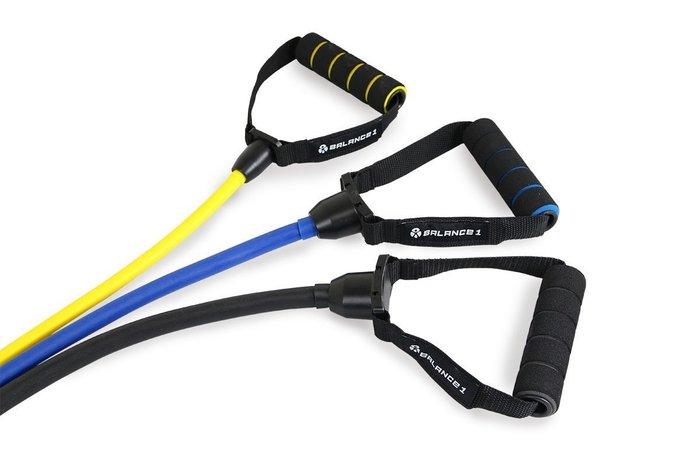 【神拳阿凱】Balance1 彈力繩 彈力帶 阻力帶 健身 拳擊 有氧 瑜珈 黑 藍 黃(免運)