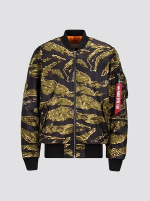 Alpha Industries MA-1 COALITION BLOOD CHIT S號 虎紋外套