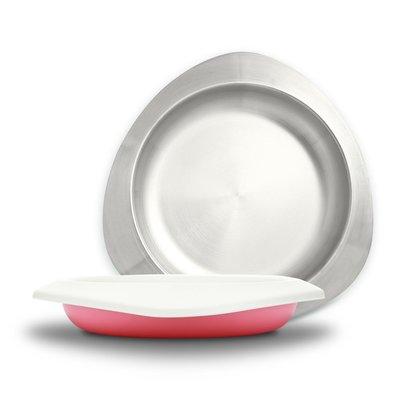 【現貨】QB選物 ❤ VIIDA ❤ Soufflé  抗菌不鏽鋼餐盤-甜心粉