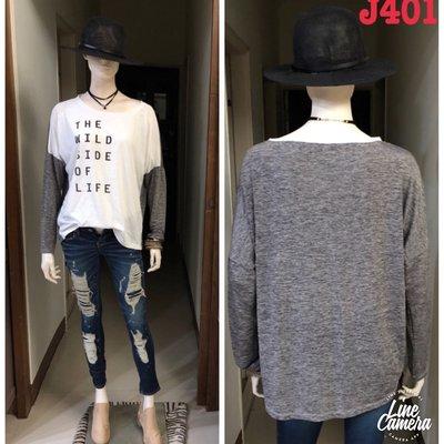 J401 加拿大品牌Only拼接袖踢恤mix  match多層次混搭搖滾 shirt J~Lounge