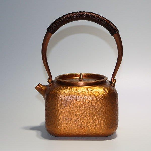 5Cgo【茗道】含稅會員有優惠 548534392298 禦虎堂純手工紫銅茶壺茶盤茶海茶玩泡茶功夫茶一張打無塗層純銅燒水