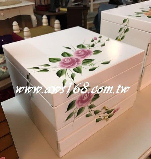 新款彩繪花朵珠寶盒