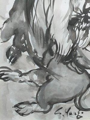 (B2100025)楊三郎-雄獅(款)【藝起來國際當代現代藝術】(書法,水墨,水彩,油畫)