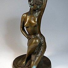 【 金王記拍寶網 】J   近代裸女銅雕擺件 一尊 罕見 稀少