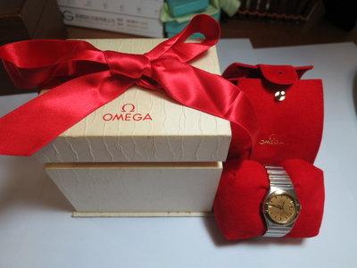 OMEGA 歐米茄 18k 半金 星座天文台 機械女錶