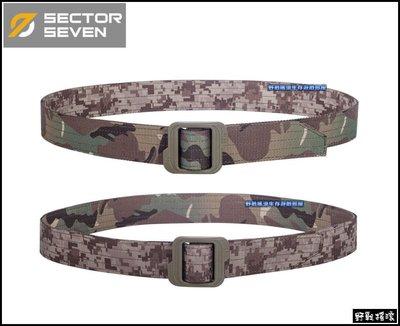 【野戰搖滾-生存遊戲】SECTOR SEVEN 雙面戰術腰帶【MultiCam、數位沙漠迷彩~兩用】勤務腰帶CP迷彩腰帶