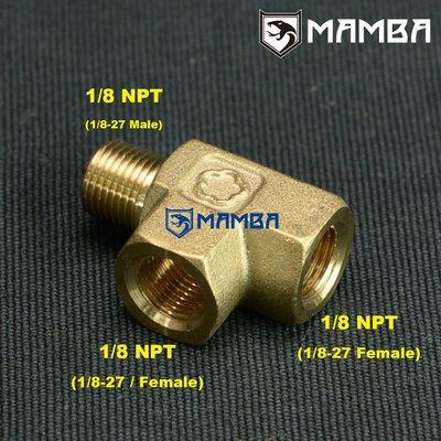 1/8 NPT Oil Pressure Gauge Sensor Adapter Tee Fitting