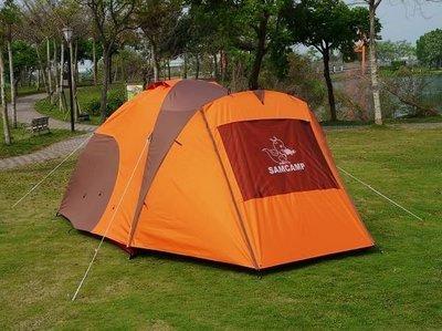 【SAMCAMP 噴火龍】超優品質㊣豪華6~8人雙門銀膠蒙古包帳篷(三代版+外帳前庭設計) -外型類似LOGOS300