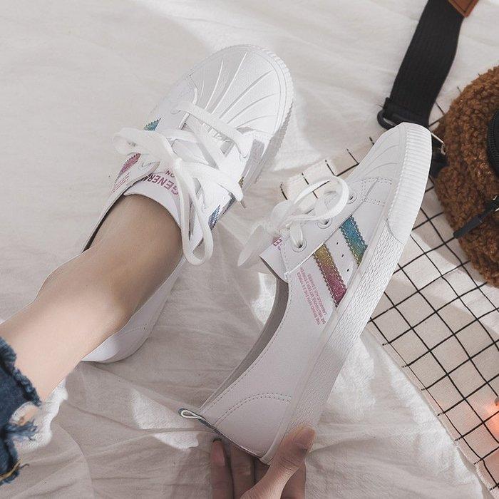 夏季新款小白鞋女韓版潮鞋女時尚休閒鞋平底百搭款8109