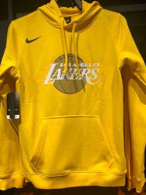 【吉米.tw】Nike NBA 黃色 湖人隊 刷毛 帽T 長袖 連帽T恤 CD3239-728 DEC