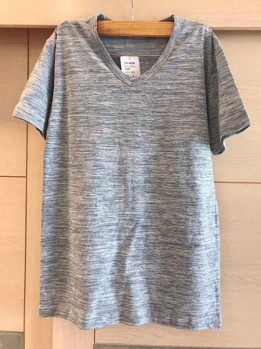 COMBINATION 雲彩V領素短T恤(女)