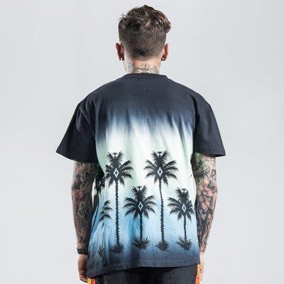 短袖T恤 休閒上衣-圓領漸層熱帶棕櫚樹男裝2色73qx49[獨家進口][米蘭精品]