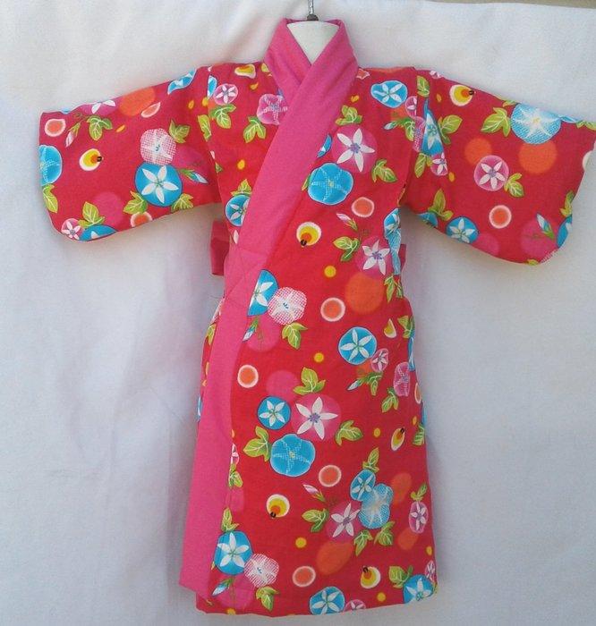 小雅兒童工作室~~純手工製作~鋪棉長和服135-145