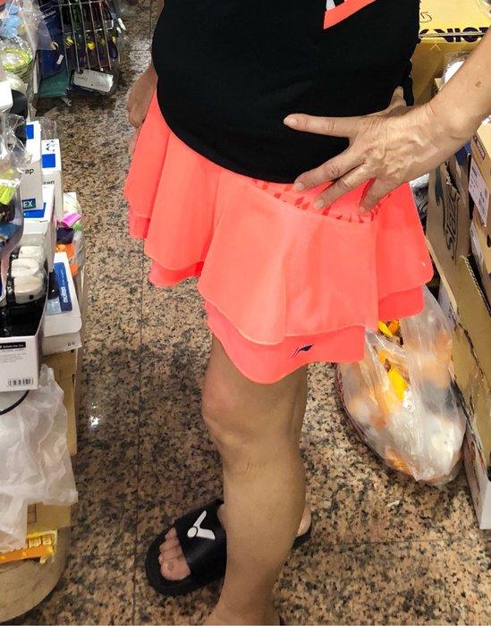 ◇ 羽球世家◇【褲裙】李寧 飄飄百摺裙 修飾臀線 窈窕剪裁 亮橘色搭配《店內眾多褲裙 搭配最完美的自己》XL僅此一件