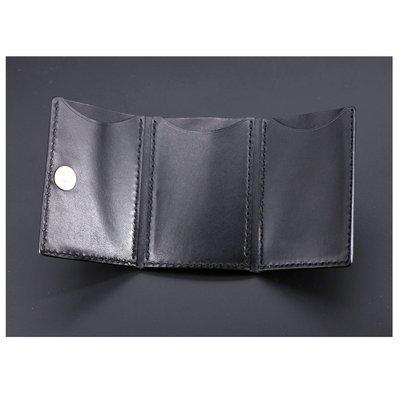 銀革手作 意大利 植鞣革 頭層牛皮 袖珍 掌心 3摺 磁扣 銀包 皮革教學 皮革課程
