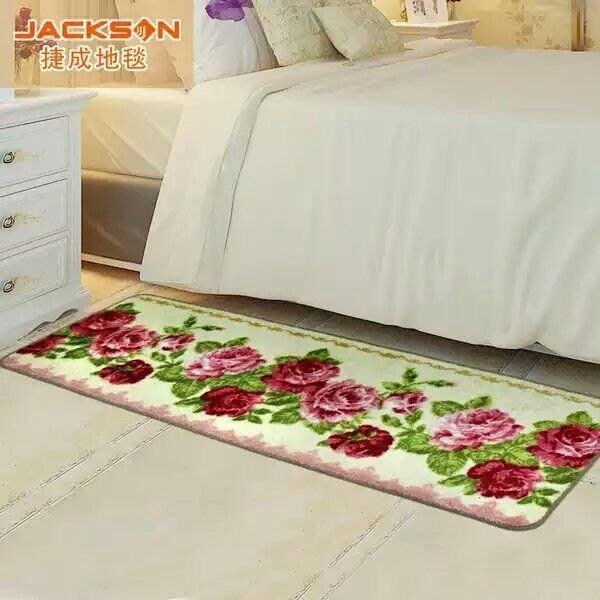 粉紅玫瑰精品屋~歐式現代簡約卧室床邊防滑吸水脚墊~溫馨玫瑰