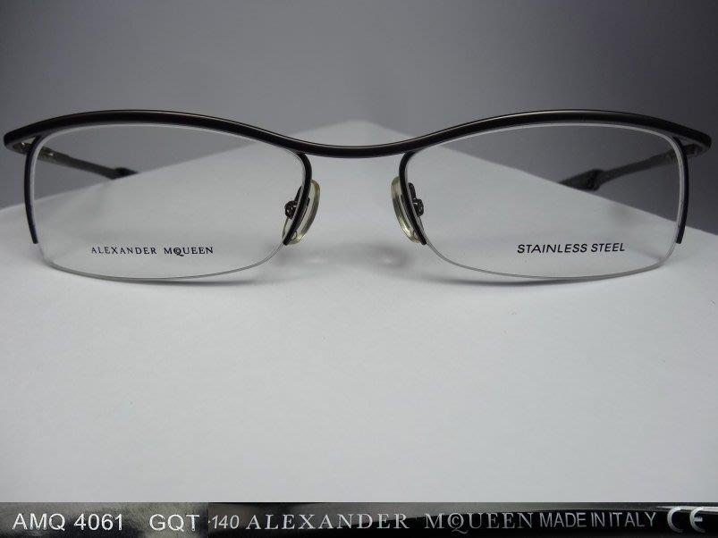 【信義計劃眼鏡】ImeMyself Eyewear ALEXANDER MCQUEEN 義大利製 金屬框 半框 眉框