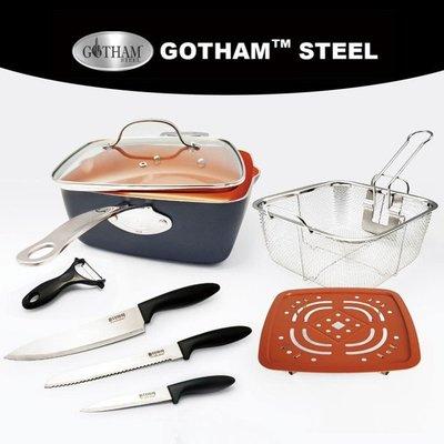 Gotham Steel 鈦金 陶瓷 神廚鍋 終極加碼組 美國萬用 24公分 神廚鍋  32公分 圓平底鍋