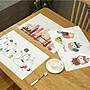 *菊色雛窗*北歐卡通彩繪pvc餐墊/ 餐桌墊/ i...
