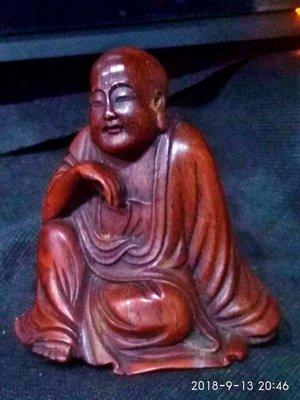 【竹雕館】~~~ 老竹雕 羅漢 放鬆 自在 安逸 如館主....坐觀千帆過 安樂存心頭